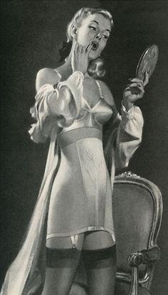 pin up, girdle, bra, lingerie, underwear, make up, 1940's