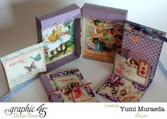 Yumi created this altered Sweet Sentiments box and tags with just 5 G45 Supplies #graphic45