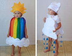 Fasching Kostüm Ideen für Babys zum Selbermachen-Wolke und Regenbogen