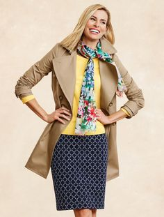 Double-Breasted Trench Coat from @talbots @talbots #SpecialtyShopsDiscover specialtyshopssouthpark.com