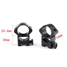 Ohhunt 2PCs Hunting 1 inch Dovetail Rings High Profile Airgun Rail Mount Quick Release Nuts Scope Mount Rings for Tactical Sight