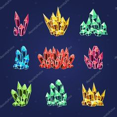 Buy Magic Crystals Icons Textures by Top_Vectors on GraphicRiver. Set of colourful magic crystals collection of icons vector illustration Flyer Design Inspiration, Fandom, Texture Vector, Conceptual Design, Crystal Collection, Creative Sketches, Pencil Illustration, Paint Markers, Business Card Logo