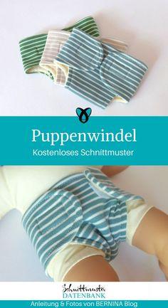 Puppenwindel – Schnittmuster Datenbank