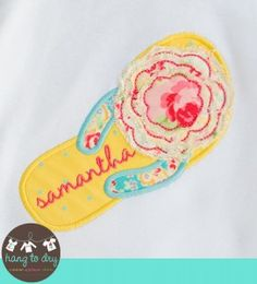 Hang to Dry - Frayed Flower Flip Flop
