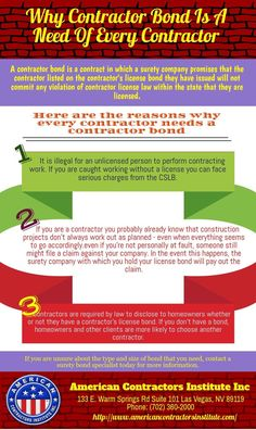 Surety bonds or contractor bonds are one of such methods that helps protect businesses in Las Vegas from possible losses. Basically, a surety bond is used by contractors as a guarantee for the services they provide to their clients.
