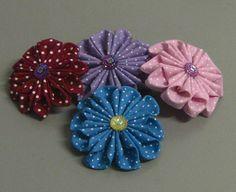 Linda flor de tecido  com 10 PetalasPasso a Passo