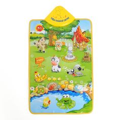 Musik Suara Farm Hewan Anak-anak Bayi Bermain anak Tikar Karpet Playmat Gym Mainan