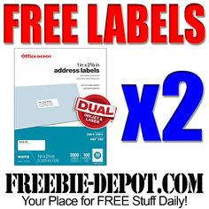 ►► FREE AFTER REBATE - Printer Address Labels - 3,000 Ct - LIMIT 2 - Exp 11/12/16 ►► #Christmas, #Free, #FreeAfterRebate, #FREEStuff, #FREEbate, #Freebie, #OfficeDepot, #OfficeMax ►►