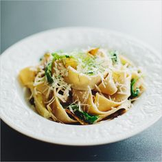 Pasta with Fennel, Arugula & Lemon by sproutedkitchen #Pasta #Veggie #Fennel #Arugula #Lemon