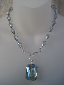 Gorgeous blue crystal necklace that I made w/ my signature focal point. www.roscadesigns.com