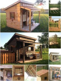 Forget boring old tree houses, how much will your kids love you if you build them an authentic-looking Western-inspired saloon fort? This fort is mostly constructed from regular fence boards. It's big enough for and adult to stand up in—so you get to play along—and the roof is sturdy and strong...