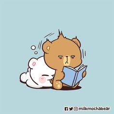 """""""Yummy ❤ --- Feel free to tag your lover/friend 😋 --- Chat Kawaii, Kawaii Chibi, Cute Bear Drawings, Cute Disney Drawings, Cartoon Pics, Cute Cartoon Wallpapers, Roald Dahl, Bear Gif, Cute Love Gif"""