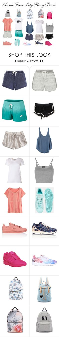 """""""Sem título #10"""" by talita-cremasco on Polyvore featuring moda, New Look, Calvin Klein, NIKE, Juicy Couture, Lucky Brand, RVCA, T By Alexander Wang, Topshop e Calypso St. Barth"""