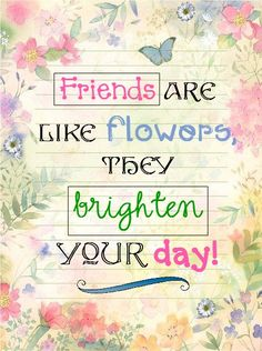 And you my friend... You're a bouquet of flowers!!
