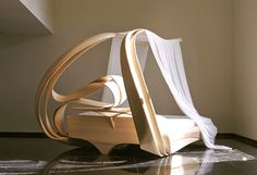 Enignum canopy bed by Joseph Walsh Studio Canopy Over Bed, Canopy Swing, Pvc Canopy, Wooden Canopy, Backyard Canopy, Fabric Canopy, Canopy Lights, Canopy Outdoor, Window Canopy