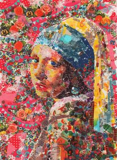The Girl with the Pearl Earring - a la fabric Talk about Modern Quilt!