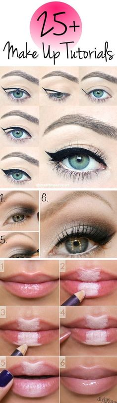 How to Apply Eyeliner – Tips and Ideas - For more beauty, makeup, and nail art ideas and tips, go to www.sparkofallure.com