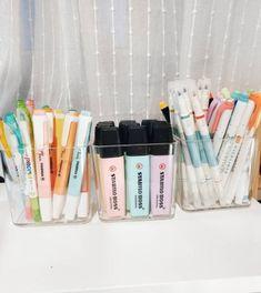 New cool art supplies desks 70 Ideas Study Room Decor, Cute Room Decor, Room Ideas Bedroom, Bedroom Decor, Study Rooms, Study Desk, Stationary Organization, Desk Organization, Stationary Supplies