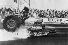 """Image detail for -Big Daddy"""" Don Garlits lost half his foot in this 1970 explosion ..."""