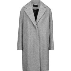 rag & bone - Ray Wool And Alpaca-blend Coat (540 CAD) ❤ liked on Polyvore featuring outerwear, coats, jackets, grey, woolen coat, grey wool coat, wool coat, gray wool coats and gray coat