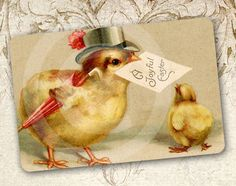 Easter home decoration, magnet from avintagerealm