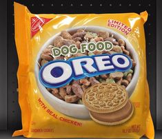 Found at: PetSmart, Petco Weird Oreo Flavors, Pop Tart Flavors, Cookie Flavors, Funny Food Memes, Food Humor, Oreos, Sweet Recipes, Dog Food Recipes, Starbucks Menu