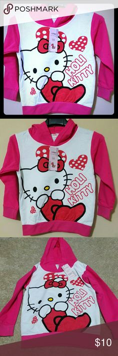 Hello Kitty Hoodie Perfect for a gift. Brand NEW hello Kitty sweater. Size 4T Sweaters