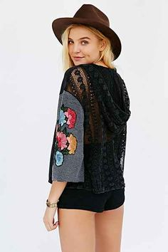 Pins And Needles Boxy Hooded Top - Urban Outfitters