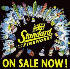 Standard Firework Poster - On Sale Here Bonfire Night Guy Fawkes, Standard Fireworks, Vintage Fireworks, Poster On, Poster Ideas, Fire Works, Canada Day, Firecracker, Instagram Accounts
