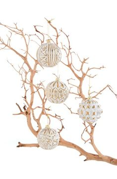 Shiraleah 'Annabel' Ball Ornaments (Set of 12) available at #Nordstrom