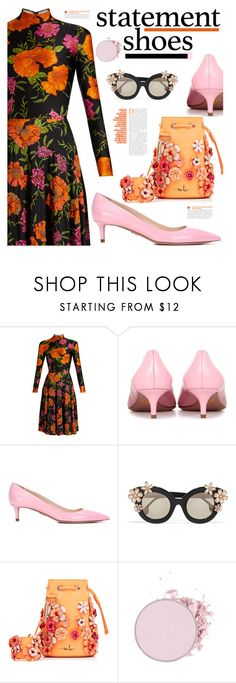 """Double Take: Statement Shoes"" by hamaly ❤ liked on Polyvore featuring Balenciaga, Prada, Alice + Olivia, Marina Hoermanseder, outfit, ootd and statementshoes"