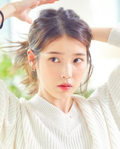Kpop Girl Groups, Kpop Girls, Korean Celebrities, Celebs, Iu Twitter, Cute Korean Girl, Iu Fashion, Korean Actresses, Korean Beauty