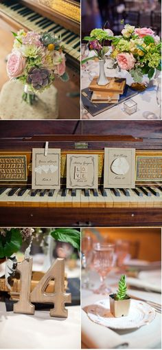Love the old books and creative place cards