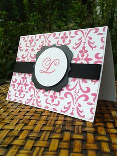 Monogrammed Note Cards  Custom Note Cards  by SharingAPassion, $4.25
