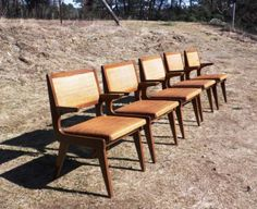 EBAY: SET-5-DINING-ARMS-CHAIRS-RATTAN-LEHIGH-FURNITURE-NY