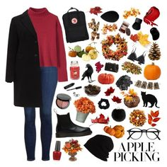 """""""apple picking ♡ 1"""" by seacloud ❤ liked on Polyvore featuring Topshop, SCHA, OPI, MacKenzie-Childs, Bobbi Brown Cosmetics, Yves Salomon, Accessorize, Improvements, Crate and Barrel and 157+173 designers"""