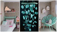 Mint Baby Mobile handmade exclusive Dreamcatcher bedroom Baby Mobiles bedding…