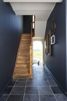 Sweet Home, Entryway, Stairs, Woodworking, Lights, Wallpaper, Room, House Ideas, Interiors