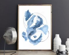 Modern abstract watercolors and contemporary art by AdriLunaStudio