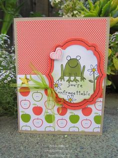 You're Unfrogettable, Teacher by michvan3 - Cards and Paper Crafts at Splitcoaststampers