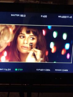 BTS of Lea Michele's music video shoot