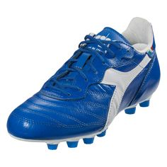 efd4c466d27 Diadora BRASIL ITALY LT MD PU Soccer Cleat - Royal White-12.5 Soccer Shoes