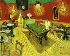 The Night Cafe Vincent van Gogh - 1888