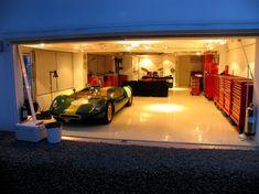White Epoxy flooring.  Modern Garage in Far East - The Garage Journal Board