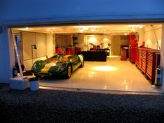 White Epoxy flooring.  Modern Garage in Far East - The Garage Journal Board