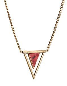 Shop ASOS Semi Precious Pendant Necklace at ASOS. Arrow Necklace, Pendant Necklace, Cool Style, Asos, Diamond, Red, Image, Jewelry, Accessories