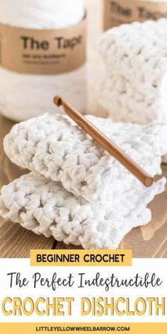 The Perfect Crochet Dishcloths - Indestructible and Long Lasting. - - Almost indestructible DIY crochet dishcloths. These thick and hardy dishcloths will scrub without tearing, wash without ripping, and will last a long time. Diy Crochet Dishcloth, Crochet Geek, Knit Crochet, Knitted Dishcloths, Cotton Crochet, Easy Craft Projects, Easy Crafts, Easy Diy, Adult Crafts