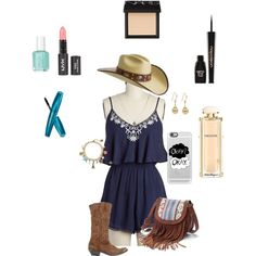 romper style by bebejump on Polyvore featuring polyvore, fashion, style, Lush, Golden Goose, Mudd, Kenneth Cole, claire's, Bailey Western, Casetify, NARS Cosmetics, Napoleon Perdis, Salvatore Ferragamo and Essie