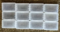 Qty 12 Pcs - Clear Plastic Game Cartridge Card Box Case Cover for Game Boy GBA SP GBM