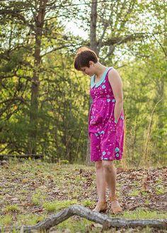 Washi Dress Photo Pool Washi Dress, Tunic Sewing Patterns, Easter Dress, Day Dresses, Dress Ideas, Quilting, Cotton, Steel, Fashion